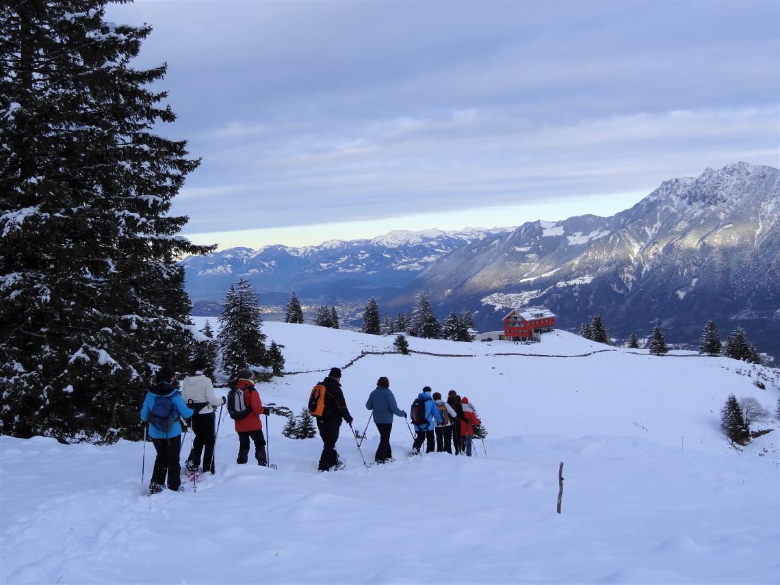 Vollmond- / Abend-Schneeschuhtour @ Berghaus Malbun Buchserberg