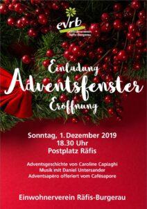 Adventsfenster-Eröffnung @ Postplatz Räfis | Buchs | Sankt Gallen | Schweiz