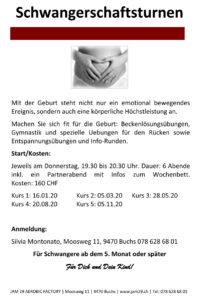 Kurs 6 x Schwangerschaftsturnen @ JAM 29 AEROBIC FACTROY | Buchs | Sankt Gallen | Schweiz