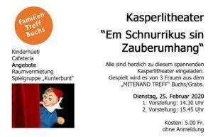 Kasperlitheater @ FamilienTreff Buchs | Buchs | Sankt Gallen | Schweiz