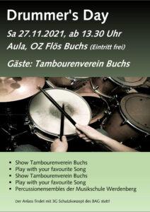 Drummer's Day @ Aula Oberstufenzentrum Flös, Buchs